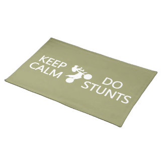 Keep Calm & Do Stunts custom color placemat