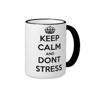 Keep Calm-Don't Stress Coffee Mugs