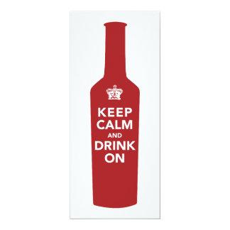 Keep Calm & Drink 80th Birthday Party Invitation