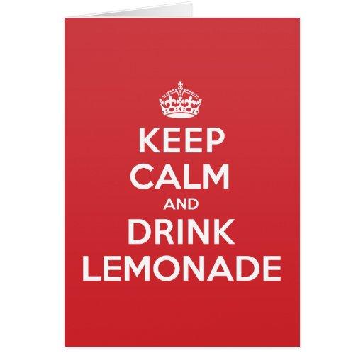 Keep Calm Drink Lemonade Greeting Note Card