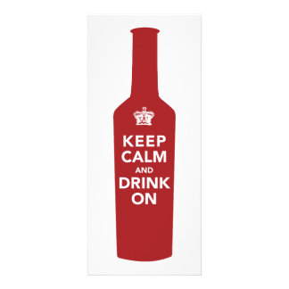 Keep Calm Drink On Birthday Party Invitation