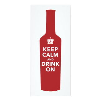 Keep Calm & Drink On Birthday Party Invitation