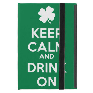 Keep Calm Drink On Shamrock  St Patricks Day Case For iPad Mini
