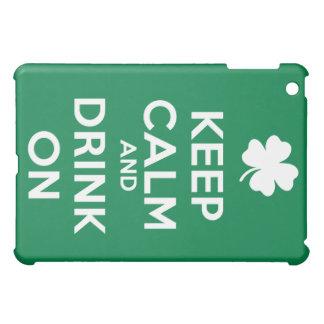 Keep Calm Drink On Shamrock  St Patricks Day Case For The iPad Mini