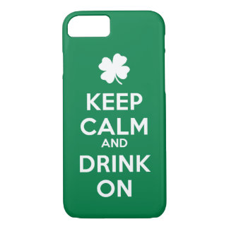 Keep Calm Drink On St Patricks Day iPhone 8/7 Case