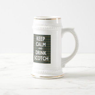 Keep Calm & Drink Scotch Beer Stein