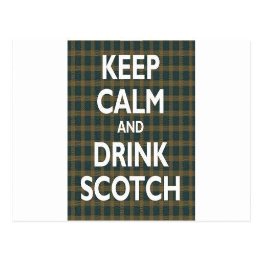 Keep Calm & Drink Scotch Post Cards