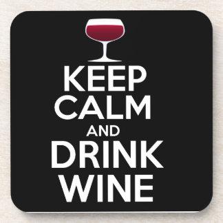 Keep Calm & Drink Wine Drinks Coaster