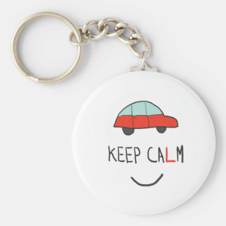 Keep Calm Driving Test Basic Round Button Key Ring