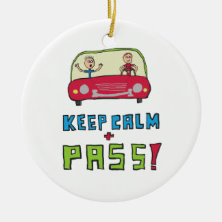Keep Calm Driving Test Christmas Ornament