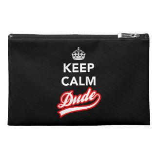 Keep Calm Dude Travel Accessories Bag