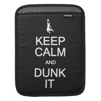 Keep Calm & Dunk It custom color iPad sleeve