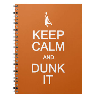 Keep Calm & Dunk It custom notebook