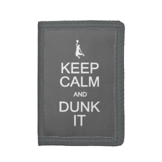 Keep Calm & Dunk It custom wallets