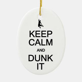Keep Calm & Dunk It ornament, customize Christmas Ornament