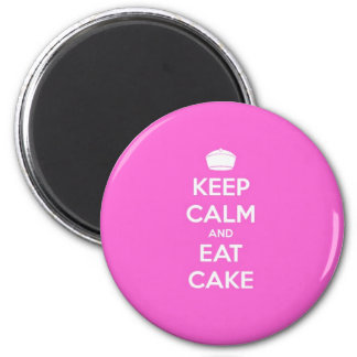 Keep Calm & Eat Cake 6 Cm Round Magnet