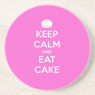 Keep Calm & Eat Cake Beverage Coasters
