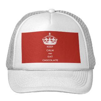 KEEP CALM  EAT  CHOCOLATE CAP