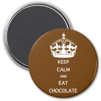 KEEP CALM  EAT  CHOCOLATE MAGNET