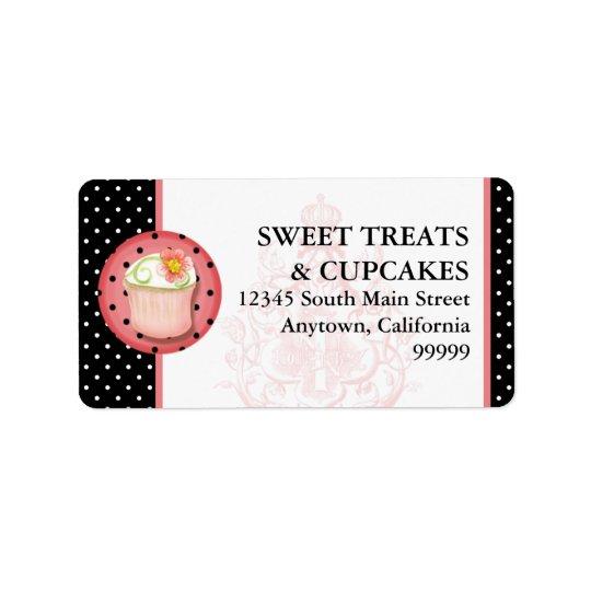 Keep Calm & Eat Cupcakes Bakery Business Address Address Label