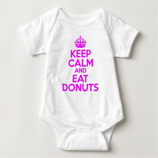 KEEP CALM EAT DONUTS BABY BODYSUIT