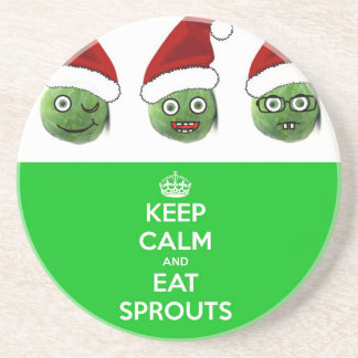 Keep Calm & Eat Sprouts Drink Coasters