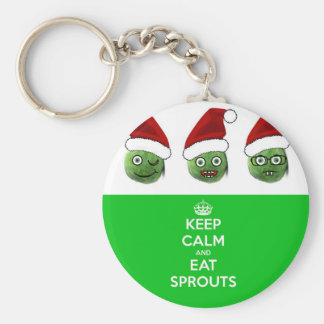 Keep Calm & Eat Sprouts Key Ring