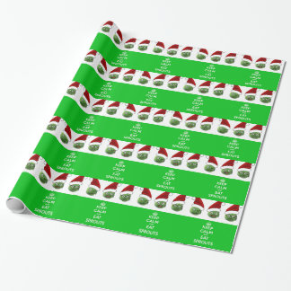 Keep Calm & Eat Sprouts Wrapping Paper
