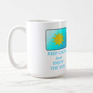 Keep Calm Enjoy the Sun Basic White Mug