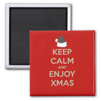 Keep Calm & Enjoy Xmas Magnet