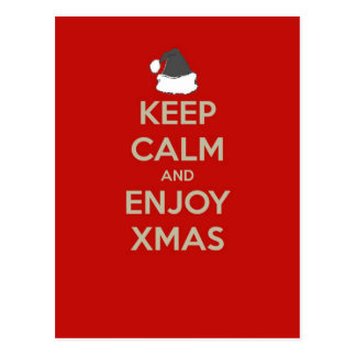 Keep Calm & Enjoy Xmas Postcard