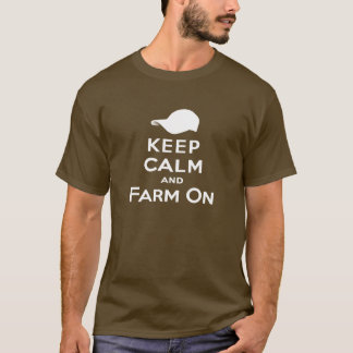Keep Calm & Farm On - Men's T-Shirt (Dark)