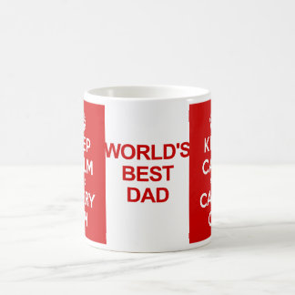 Keep Calm Father's Day Basic White Mug