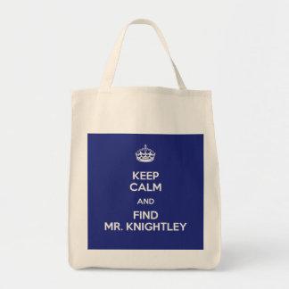 Keep Calm Find Mr. Knightley Emma Jane Austen Tote Bag