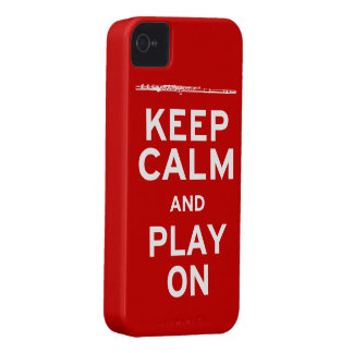 Keep Calm Flute iPhone 4 Cover