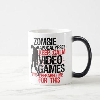 Keep Calm Funny Gamers Mug Zombie Apocalypse