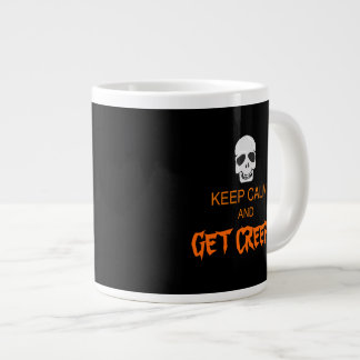 Keep Calm Get Creepy Large Coffee Mug
