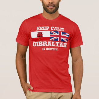 Keep Calm Gibraltar Is British T-Shirt Design
