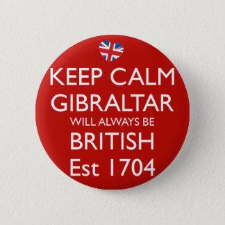 Keep Calm Gibraltar Will Always Be British Badge