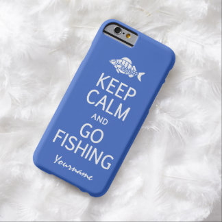 Keep Calm & Go Fishing custom color cases Barely There iPhone 6 Case