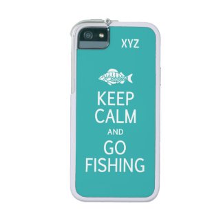 Keep Calm & Go Fishing custom color cases iPhone 5/5S Cases