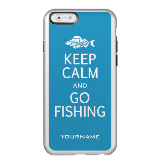 Keep Calm & Go Fishing custom color cases Incipio Feather® Shine iPhone 6 Case