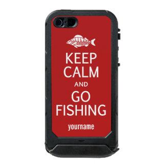 Keep Calm & Go Fishing custom color cases Incipio ATLAS ID™ iPhone 5 Case