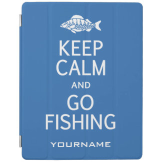 Keep Calm & Go Fishing custom color device covers iPad Cover