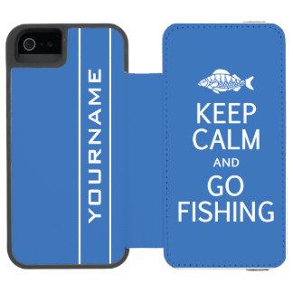 Keep Calm & Go Fishing custom color wallet cases Incipio Watson™ iPhone 5 Wallet Case