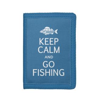 Keep Calm & Go Fishing custom color wallets