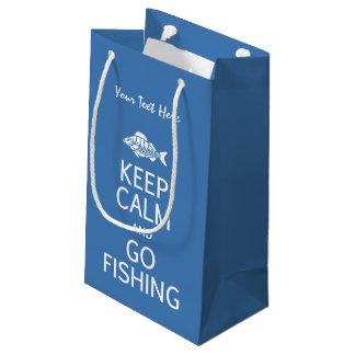 Keep Calm & Go Fishing custom gift bags
