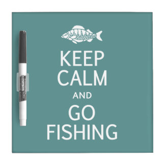 Keep Calm & Go Fishing custom message board