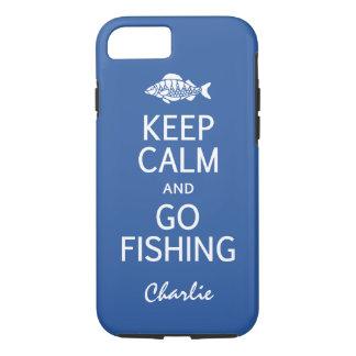 Keep Calm & Go Fishing custom monogram cases