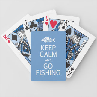Keep Calm & Go Fishing custom playing cards